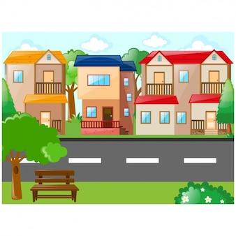 Dorf Hintergrund-Design