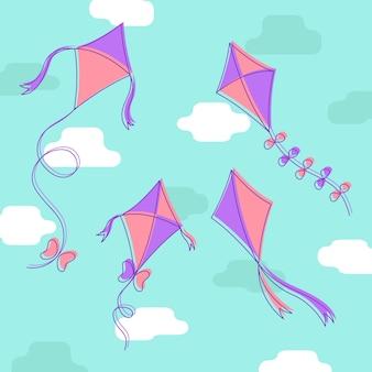 Drachen Illustration Hintergrund