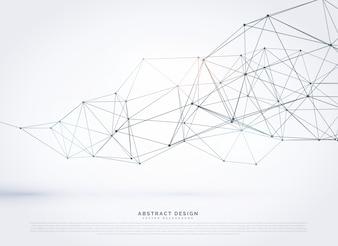 Drahtgitter Polygonalnetz Hintergrund Design