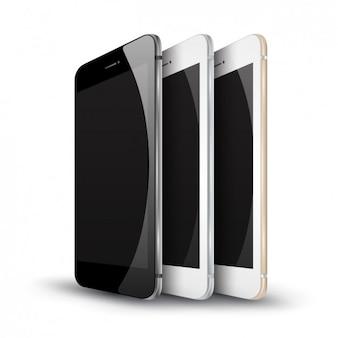 Drei Smartphone Mockup