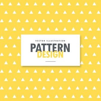 Dreieck Formen Muster auf gelbem Hintergrund