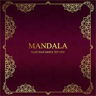 Dunkelrot Mandala Rahmen Design
