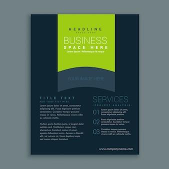 Dunkle Broschüre Design-Vorlage Vektor-Design