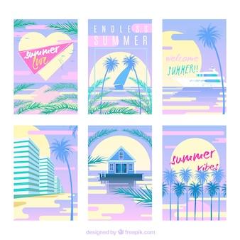 Ehrfürchtige Packung dekorative Sommerkarten