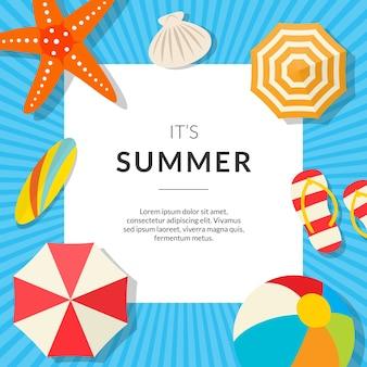 Ehrfürchtiger Sommer-Hintergrund