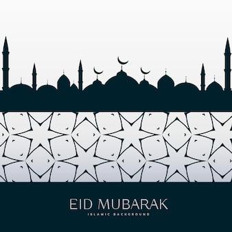Eid festival gruß design hintergrund