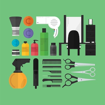 Ein Friseur-Toolset