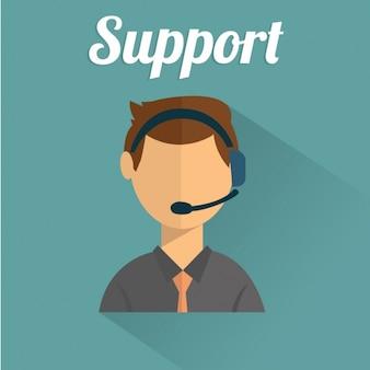 Eine Person in Unterstützung arbeiten
