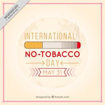 Einfach kein Tabak Tag Hintergrund