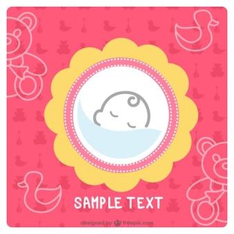 Einfache Babykarte Design
