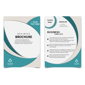 einfache Business-Broschüre Vorlage