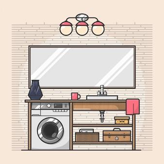Einfache moderne Badezimmer
