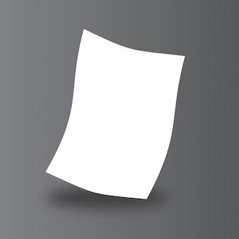 Einfache Papier Mock up
