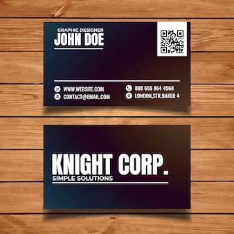 Einfache Typografie-Visitenkarte