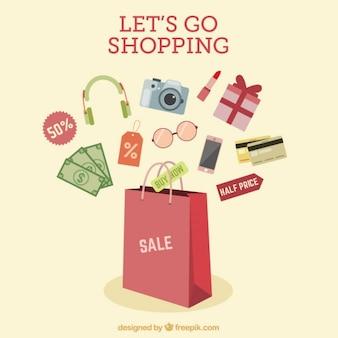 Einkaufen Werbedesign