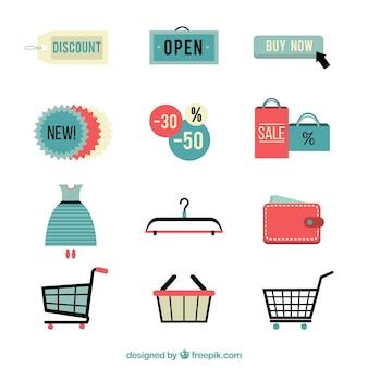 Einkaufs Elemente