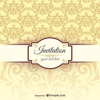 Einladung Vorlage mit Damast-Muster