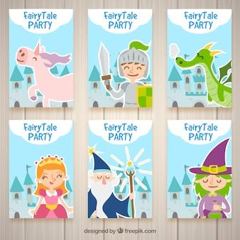 Einladungen für eine Fantasy-Party