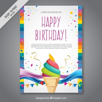 Eiscreme-Geburtstagskarte