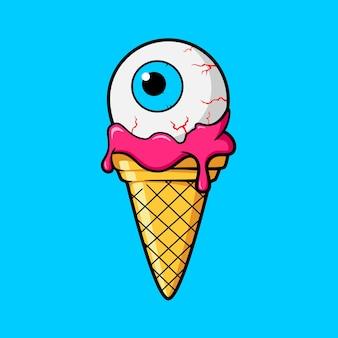 Eiscreme Kegel mit Auge