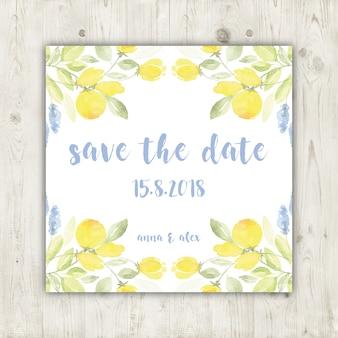 Elegante Blumenabwehr die Datumskarte