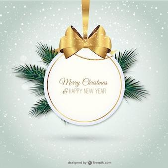 Elegante frohe Weihnachten Label
