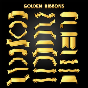 Elegante goldene Band Pack