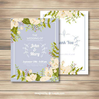 Elegante Jasmin-Karte
