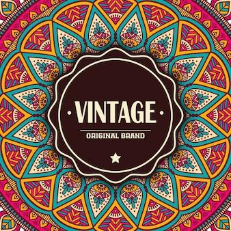 Elegante Karte mit Spitze Verzierung und Platz für Text auf Hintergrund Vintage Art Hochzeit Einladung Vektor Mandala