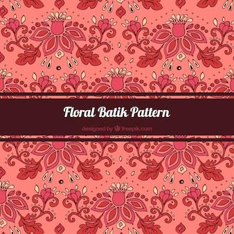 Elegante Muster der handbemalter Batik Blumen
