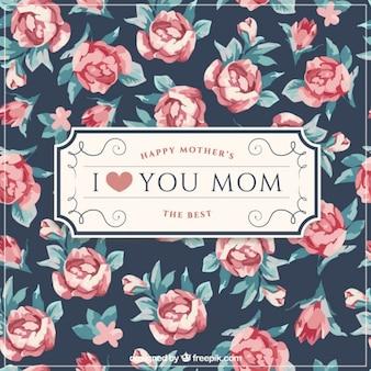 Elegante Mutter Tag Hintergrund mit niedlichen Rosen