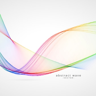 Elegante Regenbogen Farbe abstrakte Welle Vektor Hintergrund