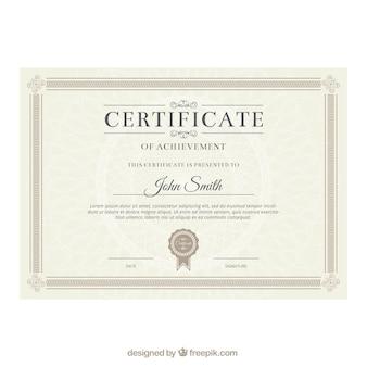 Eleganter Zertifikatvorlage
