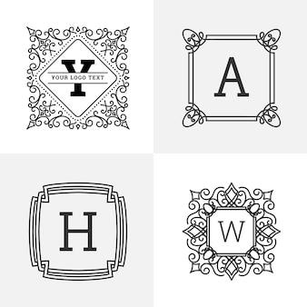 Elegantes Monogramm-Logo