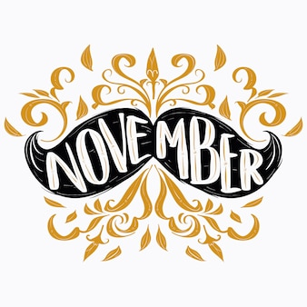 Elegantes Movember Schriftzug