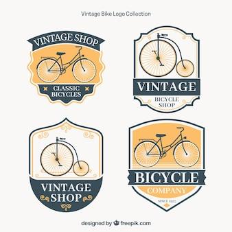 Elegantes Paket von Vintage-Bike-Logos