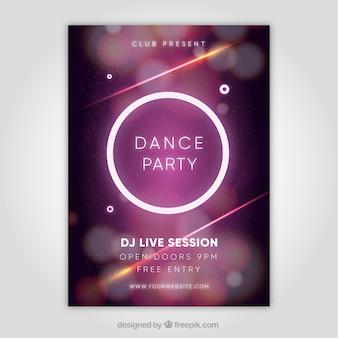 Elegantes Partyplakat mit Kreis