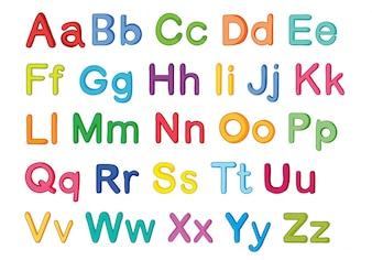 Englische alphabets