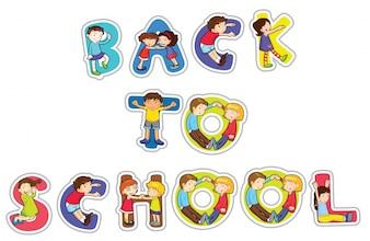 Englisches Wort zurück zur Schule