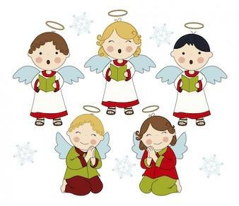 Entzückende singenden Engeln