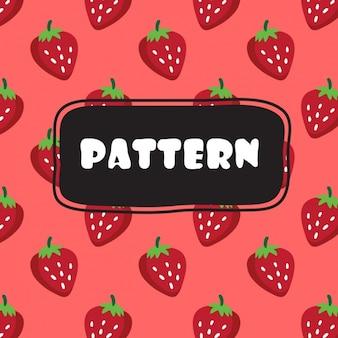 Erdbeeren Muster Design