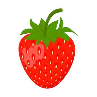 Erdbeerikone lokalisiert auf weißem Hintergrund, Vektorillustration.
