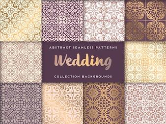 Ethnische Blumen Hochzeit nahtlose Muster Zusammenfassung ornamentalen Muster