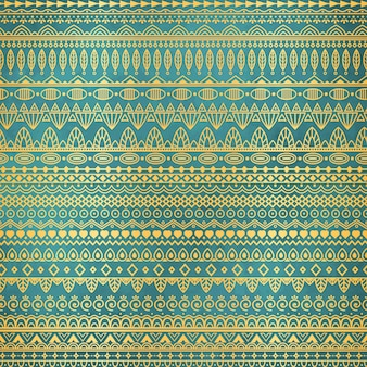 Ethnische goldene Muster auf Knickenten Grunge Hintergrund