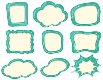 Etikettenvorlagen in grüner Farbe