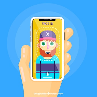Face ID Design mit Hipster