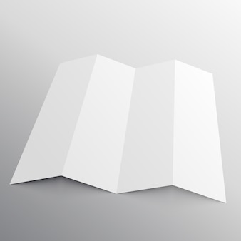 Faltbare Broschüre mockup in Perspektive