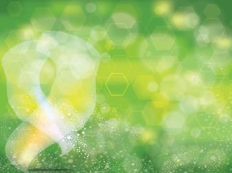 Fantasie Vektor mit Runden auf grünem Hintergrund