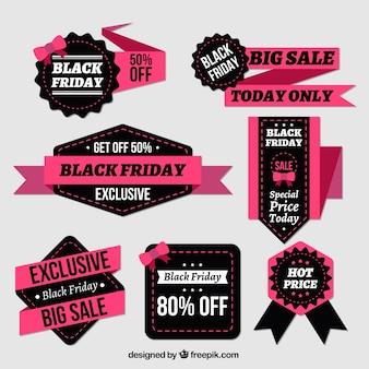 Fantastische Abzeichen und Bänder für schwarzen Freitag