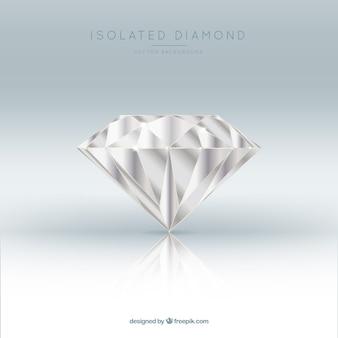 Fantastische Hintergrund realistischer Diamant